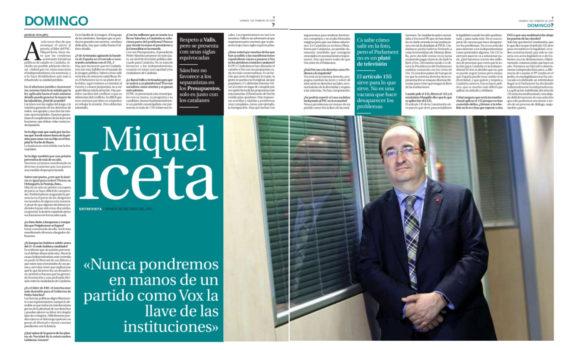 Miquel Iceta, entrevista