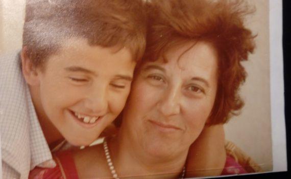 Javier Faya y su madre, Charo